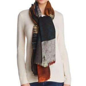Larioseta Patchwork Oversized Wool Silk Scarf